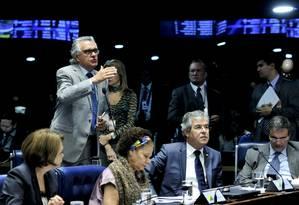Em pronunciamento, o senador Ronaldo Caiado (DEM-GO) Foto: Geraldo Magela / Geraldo Magela/Agência Senado
