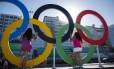 Os arcos olímpicos no bairro garantiram diversas fotos durane a Olimpíada
