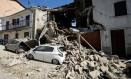 Terremoto destruiu edifícios na cidade de Castel Sant'Angelo, perto de Amatrice Foto: MAX ROSSI / REUTERS