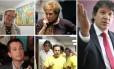 Em sentido horário, Erundina, Marta, Haddad (que tenta a reeleição), Dória e Russomanno