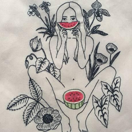 A nudez e a sedução nos pontos de bordado Foto: Reprodução