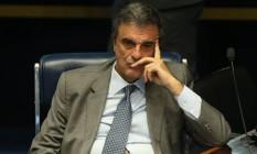 José Eduardo Cardozo, advogado de defesa da Presidente afastada Dilma Rousseff, durante a sessão no Senado para análise e votação do impeachment de Dilma Foto: André Coelho