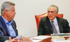 Temer recebe o governador do DF, Rodrigo Rollemberg Foto: Divulgação