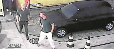 Lochet ao deixar o posto de gasolina Foto: reprodução de vídeo