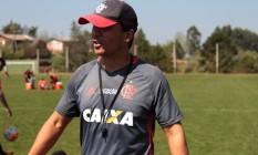 O técnico do Flamengo, Zé Ricardo, no treino desta sexta-feira Foto: Andrey Menezes / FLA TV