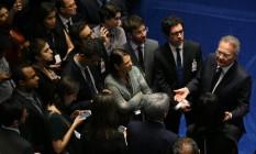O presidente do Senado, Renan Calheiros (PMDB-AL) Foto: Ailton de Freitas / Agência O Globo