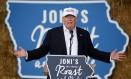 Trump fala a apoiadors em Des Moines, Iowa Foto: CARLO ALLEGRI / REUTERS