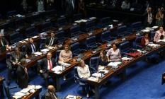 Plenário do Senado durante julgamento do impeachment Foto: Ailton de Freitas / Agência O Globo