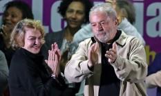 Lula e Marisa em ato do PT Foto: PAULO WHITAKER/REUTERS/15-8-2016