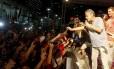 Chico Buarque em ato de apoio a Dilma, em março