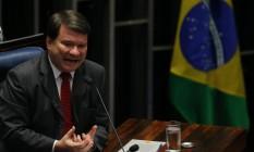 Professor Ricardo Lodi, da Uerj, é ouvido como informante no plenário do Senado Foto: Ailton de Freitas / Agência O Globo