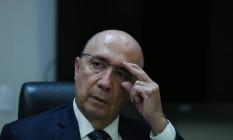 O ministro da Fazenda, Henrique Meirelles, em entrevista ao GLOBO Foto: Michel Filho / Agência O Globo