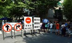 Segurança. Hangzhou, que vai sediar cúpula do G-20, já tem rotina alterada Foto: AFP/20-8-2016