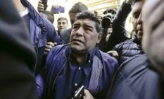 Maradona tinha compromissos comerciais em Dubai e se irritou após ser impedido de embarcar Foto: Natacha Pisarenko 06/07/2016 / AP
