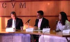 Sérgio Machado, no centro, é o novo diretor da CVM Foto: Bruno Rosa