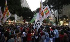 No Rio, manifestantes deixaram a Candelária em direção à Avenida Rio Branco Foto: Fabio Rossi