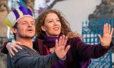 Performance. Beatriz posa com Nachtergaele, que participa do show hoje Foto: Divulgação
