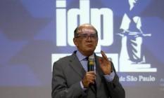 Ministro participou de aula aberta no Instituto de Direito Público, nesta segunda-feira Foto: Pedro Kirilos/Agência O Globo