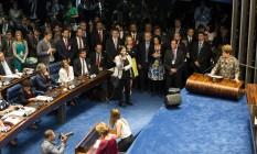 Dilma faz sua defesa no plenário do Senado Foto: Lula Marques