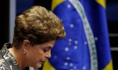 Dilma Rousseff apresenta defesa no Senado Foto: Ueslei Marcelino / Reuters