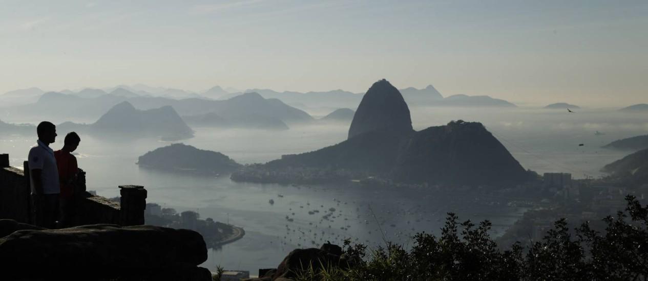 A vista para o Pão de Açúcar Foto: Gabriel de Paiva / Agência O Globo