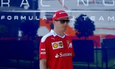 Kimi Raikkonen fez duras críticas a Verstappen após o GP da Bélgica Foto: Loic Venance / AFP