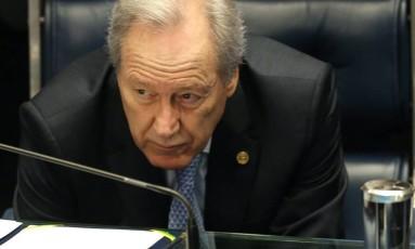 O ministro Ricardo Lewandowski no plenário do Senado Foto: André Coelho / Agência O Globo