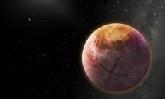 Ilustração mostra o suposto Planeta X, no exterior do Sistema Solar Foto: DIVULGAÇÃO