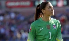 Hope Solo foi suspensa por seis meses da seleção americana Foto: Tony Gutierrez / AP