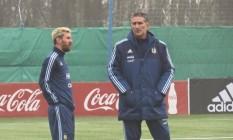 AFA e Messi postaram foto de conversa entre o camisa 10 e Bauza em campo Foto: Reprodução / Facebook/Instagram