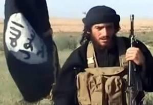 Adnani: porta-voz do Estado Islâmico Foto: Reprodução de vídeo