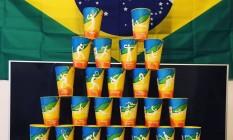 Coleção dos copos da Olimpíada do Rio Foto: Reprodução