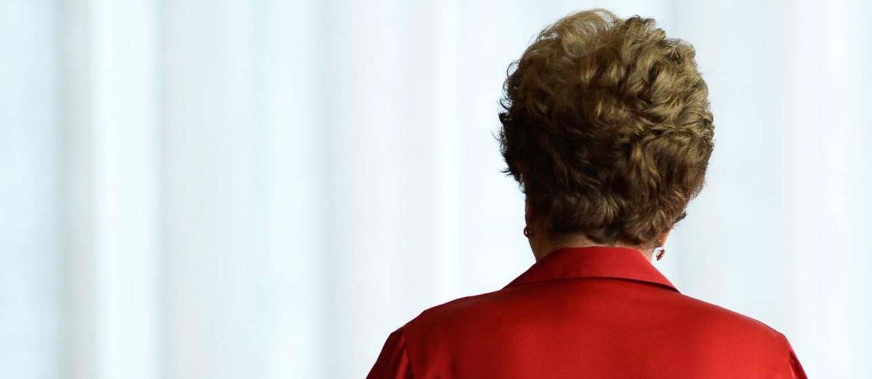 A presidente afastada Dilma Rousseff no Palácio da Alvorada a dois dias da decisão final sobre o impeachment Foto: Andressa Anholete / AFP / 29-8-2016