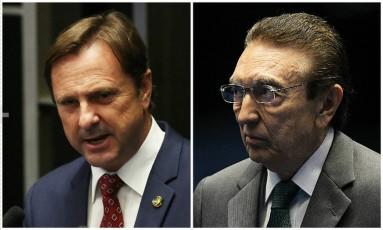 Os senadores Acir Gurgacz (PDT-RO) e Edison Lobão (PMDB-MA) Foto: Montagem sobre fotos