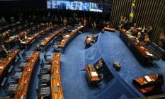 O último a falar foi Romário (PSB-RJ), reafirmando seu voto pelo impeachment Foto: Ailton de Freitas / Agência O Globo