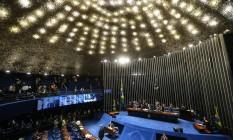 Plenário do Senado Federal durante sessão do julgamento que definirá o impeachment da presidente afastada Dilma Rousseff Foto: Ailton de Freitas / Agência O Globo / Arquivo / 30/08/2016