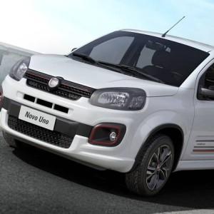 Fiat Uno reestilizado vai estrear linha de motores, que incluirá um 1.0 tricilíndrico e um 1.3 de quatro cilindros, e deve ser uma das estrelas da marca no Salão de São Paulo Foto: Divulgação