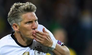 Schweinsteiger se despede da seleção alemã após 12 anos Foto: Patrik Stollarz / AFP