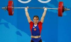Marina Shainova conquistou a prata em Pequim na categoria até 58 quilos Foto: Reuters