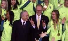 O presidente interino Michel Temer, durante cerimonia de recepção aos atletas olímpicos que participaram da Rio 2016 Foto: Joel Rodrigues / Agência O Globo / Arquivo / 29/08/2016