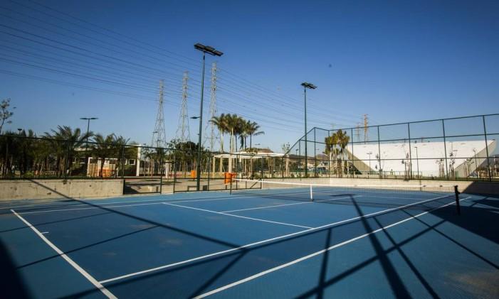 Primeira quadra de tênis pública da Zona Norte do Rio Foto: Barbara Lopes / Agência O Globo