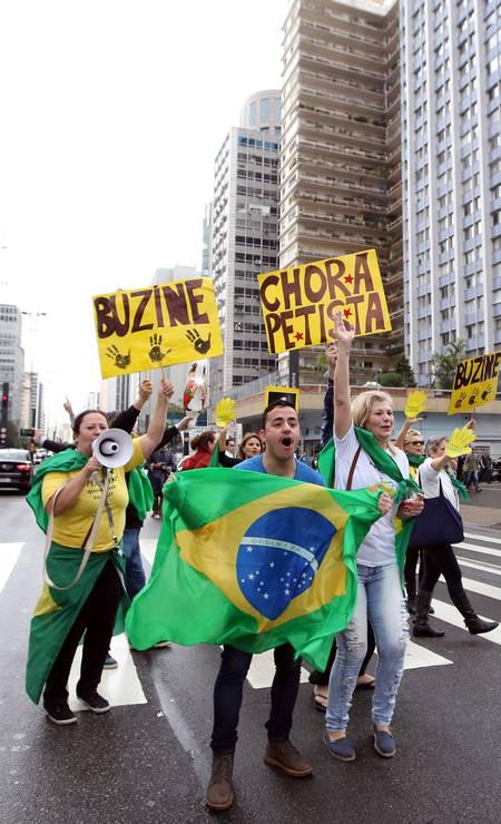 E fecharam a Avenida Paulista Foto: PAULO WHITAKER / REUTERS