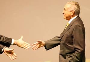 Temer protestava contra boicote de Dilma às negociações que estabelecia com o Congresso Foto: Pedro Kirilos/4-7-2016