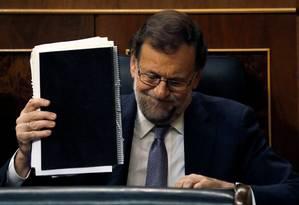 Mariano Rajoy em debate sobre investidura no Parlamento de Madri Foto: JUAN MEDINA / REUTERS