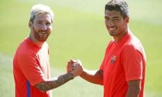 Barcelona destacou a presença de Messi e Suárez no clássico Foto: Miguel Ruiz / Barcelona FC