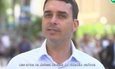 Flávio Bolsonaro sugere o uso de armas pela Guarda Municipal Foto: Reprodução