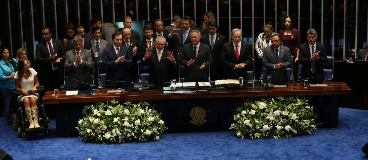Michel Temer toma posse como presidente da República Foto: Ailton de Freitas / Agência O Globo / 31-8-2016