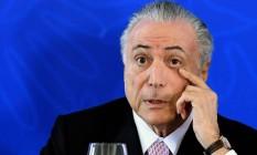 O presidente Michel Temer: PMDB dividido em votação sobre Dilma Foto: EVARISTO SA / AFP/8-7-2016