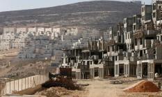 Em 2013, assentamentos têm obras para novas construções na Cisjordânia Foto: BAZ RATNER / REUTERS