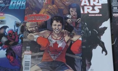 Premier canadense, Justin Trudeau, vira super herói em capa de revista em quadrinhos da Marvel Foto: MARC BRAIBANT / AFP